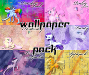 Mane 6 Wolf Wallpaper Pack