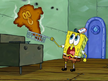 Spongebob gasps at fried sqiudward