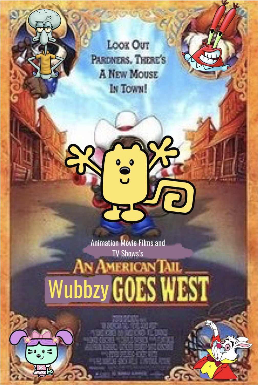 An American Tail 2: Wubbzy Goes West (Animation Movie Films and TV Shows Style)