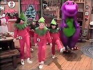 Barney and the kids perform The Elves' Rap