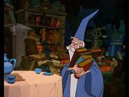 Merlin holds books.