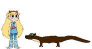 Star meets Giant Otter
