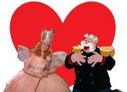 The King and Glinda love together