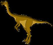 Tom Spacebot struthiomimus form dinosaur in thespacebotsadventuresseries