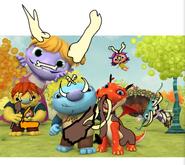 Wallykazam Characters as Cavemen