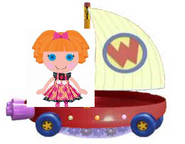 Bea Spells-a-Lot Riding the Wonder Pets Flyboat