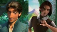 Flynn Rider and Rick (Happily N'ever After)