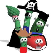 The veggies in their halloween costumes