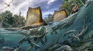 Dinosaurs Swimming