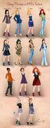 Disney Princesses 1990s Fashion