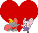 Dumbo and Eleanor the Elephant love together