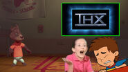 Fred getting scared by the THX Cavalcade Logo