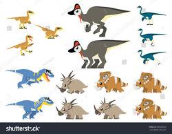 Stock-vector-various-north-american-cretaceous-dinosaurs-vector-containing-gorgosaurus-deinonychus-feathered-505020328.jpg