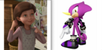 Lizzy Griffths and Espio the Chameleon