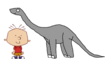 Stanley Griff Meets Apatosaurus