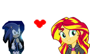 Sunset Shimmer and Sonic