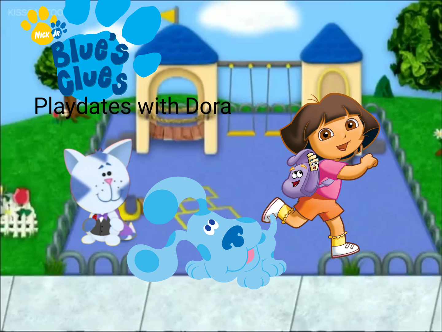 Blue's Clues: Playdates with Dora (VHS)