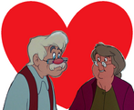 Geppetto and Widow Tweed love together