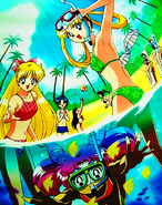 Sailor Scouts taking a snorkel