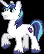 Shining Armor (My Little Pony) as Donkey (Horse)