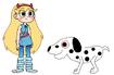 Star meets Dalmatian
