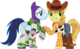 Braeburn and Soarin as Woody and Buzz Lightyear