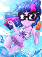 Having Fun at the Beach with Twilight Sparkle