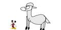 Mickey meets alpaca