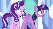 Twilight and Starlight in complete shock S6E16