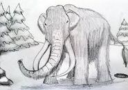 Wooly Mammoths Sketch