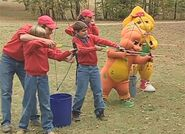 BJ, Riff and the campers shooting arrows