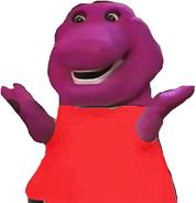 Barney as Winnie the Pooh