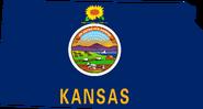 Kansas Flag Map