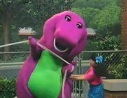 Min tickling Barney during Tug Of War