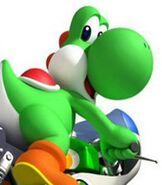 Yoshi in Mario Kart Wii