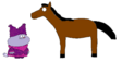 Chowder meets Domestic Horse