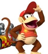 Diddy Kong in Mario Kart Wii