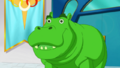 Beast Boy as a Hippopotamus
