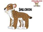 Fjatkoflw smilodon by lionadventuresart de0x8ce