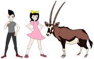 Riley and Elycia meets Beisa Oryx