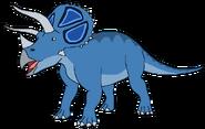 Sam Spacebot triceratops form dinosaur in thespacebotsadventuresseries