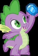 Spike holding up a diamond