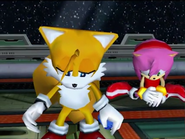 Tails and amy are sad because sonic is gone