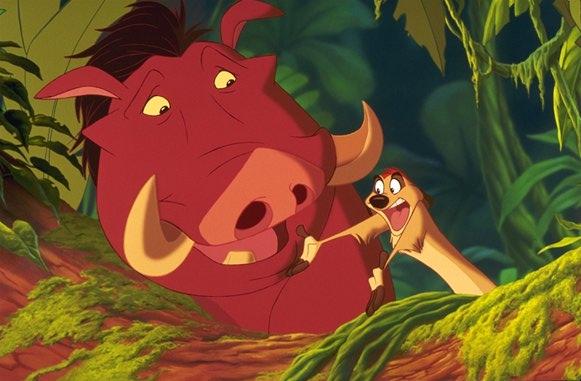 Timon and Pumbaa