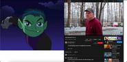 Beast Boy vs Psycho Dad