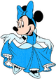 Minnie Mouse dressed as Cinderella