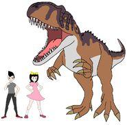 Riley and Elycia meets Yangchuanosaurus