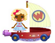 Dot Starlight Riding the Wonder Pets Flyboat