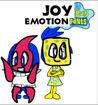Joy and Sadness as SpongeBob and Patrick