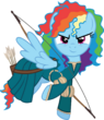 Rainbow Dash as Merida